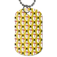 Snowman Green Dog Tag (one Side) by AnjaniArt