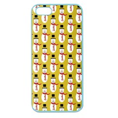 Snowman Green Apple Seamless Iphone 5 Case (color) by AnjaniArt