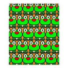 Sitfrog Orange Green Frog Shower Curtain 60  X 72  (medium)  by AnjaniArt