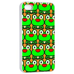 Sitfrog Orange Green Frog Apple Iphone 4/4s Seamless Case (white) by AnjaniArt