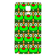 Sitfrog Orange Green Frog Galaxy Note 4 Back Case