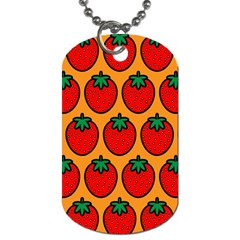 Strawberry Orange Dog Tag (one Side)