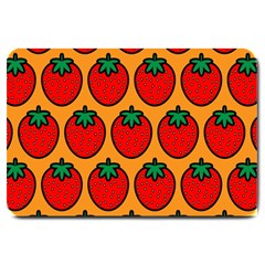 Strawberry Orange Large Doormat  by AnjaniArt