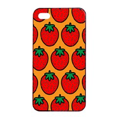 Strawberry Orange Apple Iphone 4/4s Seamless Case (black) by AnjaniArt