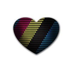 Techno Music Heart Coaster (4 Pack)