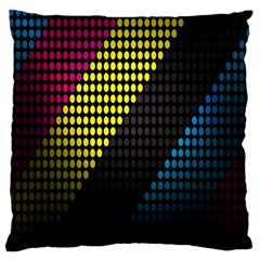 Techno Music Large Cushion Case (two Sides)