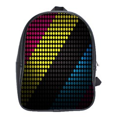 Techno Music School Bags (xl)  by AnjaniArt
