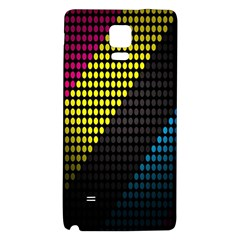 Techno Music Galaxy Note 4 Back Case by AnjaniArt