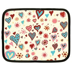 Valentine Heart Pink Love Netbook Case (xxl)  by AnjaniArt