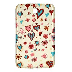 Valentine Heart Pink Love Samsung Galaxy Tab 3 (7 ) P3200 Hardshell Case  by AnjaniArt