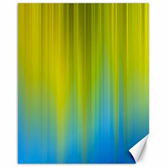 Yellow Blue Green Canvas 16  X 20   by AnjaniArt