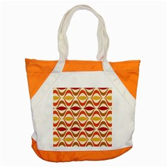Wave Orange Red Yellow Rainbow Accent Tote Bag