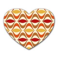 Wave Orange Red Yellow Rainbow Heart Mousepads