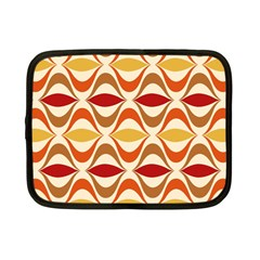 Wave Orange Red Yellow Rainbow Netbook Case (small)  by AnjaniArt