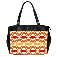 Wave Orange Red Yellow Rainbow Office Handbags (2 Sides)  by AnjaniArt