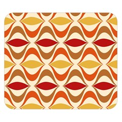 Wave Orange Red Yellow Rainbow Double Sided Flano Blanket (small)  by AnjaniArt