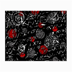 Red Mind Small Glasses Cloth (2 Side) by Valentinaart