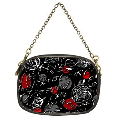 Red Mind Chain Purses (one Side)  by Valentinaart