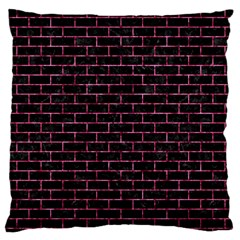 Brick1 Black Marble & Pink Marble Standard Flano Cushion Case (one Side) by trendistuff