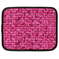 Brick1 Black Marble & Pink Marble (r) Netbook Case (xl) by trendistuff