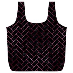 Brick2 Black Marble & Pink Marble Full Print Recycle Bag (xl) by trendistuff