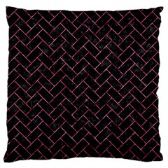 Brick2 Black Marble & Pink Marble Standard Flano Cushion Case (two Sides) by trendistuff