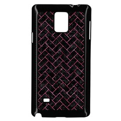 Brick2 Black Marble & Pink Marble Samsung Galaxy Note 4 Case (black) by trendistuff