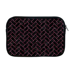 Brick2 Black Marble & Pink Marble Apple Macbook Pro 17  Zipper Case by trendistuff