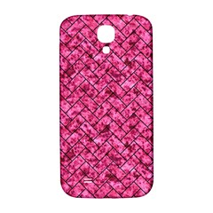 Brick2 Black Marble & Pink Marble (r) Samsung Galaxy S4 I9500/i9505  Hardshell Back Case by trendistuff