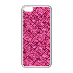 Brick2 Black Marble & Pink Marble (r) Apple Iphone 5c Seamless Case (white) by trendistuff