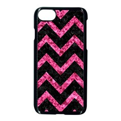 Chevron9 Black Marble & Pink Marble Apple Iphone 7 Seamless Case (black) by trendistuff