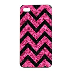 Chevron9 Black Marble & Pink Marble (r) Apple Iphone 4/4s Seamless Case (black) by trendistuff