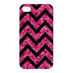 Chevron9 Black Marble & Pink Marble (r) Apple Iphone 4/4s Hardshell Case by trendistuff