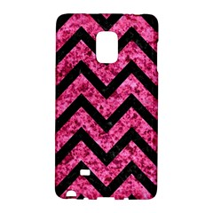 Chevron9 Black Marble & Pink Marble (r) Samsung Galaxy Note Edge Hardshell Case by trendistuff