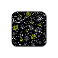 Yellow Mind Rubber Square Coaster (4 Pack)  by Valentinaart