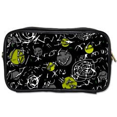Yellow Mind Toiletries Bags by Valentinaart