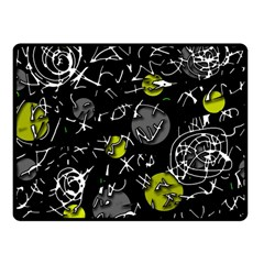 Yellow Mind Fleece Blanket (small) by Valentinaart