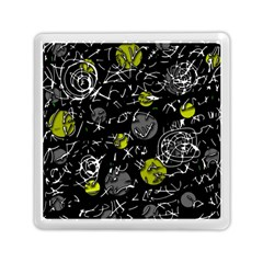 Yellow Mind Memory Card Reader (square)  by Valentinaart