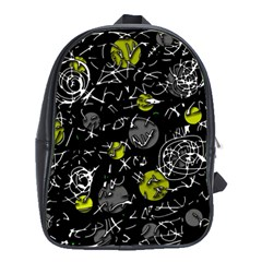 Yellow Mind School Bags (xl)  by Valentinaart