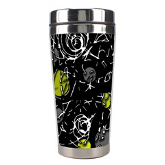 Yellow Mind Stainless Steel Travel Tumblers by Valentinaart