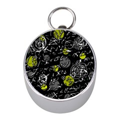 Yellow Mind Mini Silver Compasses by Valentinaart