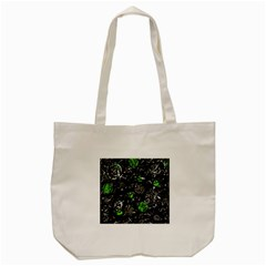 Green Mind Tote Bag (cream) by Valentinaart