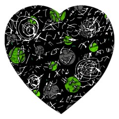 Green Mind Jigsaw Puzzle (heart) by Valentinaart