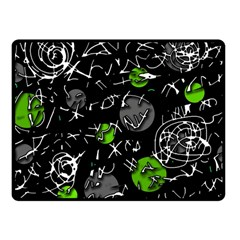 Green Mind Fleece Blanket (small) by Valentinaart