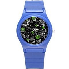 Green Mind Round Plastic Sport Watch (s) by Valentinaart