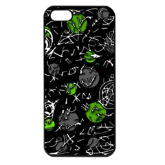 Green Mind Apple Iphone 5 Seamless Case (black) by Valentinaart