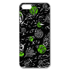 Green Mind Apple Seamless Iphone 5 Case (clear) by Valentinaart
