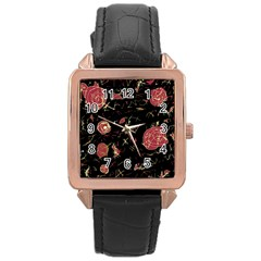 Elegant Mind Rose Gold Leather Watch