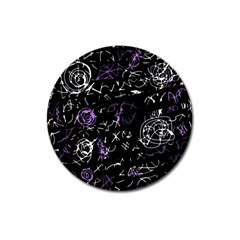 Abstract Mind   Purple Magnet 3  (round) by Valentinaart
