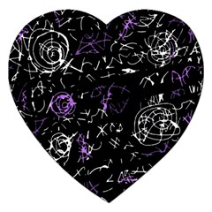 Abstract Mind   Purple Jigsaw Puzzle (heart)